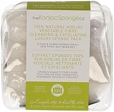 Parfums et Produits cosmétiques Éponges nettoyantes en fibre végétale pour visage et corps - The Konjac Sponge Company Travel/Gift Sponge Bag Duo Pack 100% Pure