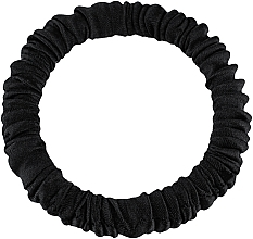 Parfums et Produits cosmétiques Élastique à cheveux en soie naturelle, noir Skinny - Makeup Skinny Scrunchie Black