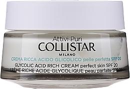Parfums et Produits cosmétiques Crème à l'acide glycolique pour visage - Collistar Pure Actives Glycolic Acid Rich Cream SPF20