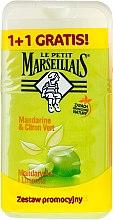 Parfums et Produits cosmétiques Lot de 2 gels douche Mandarine et citron vert - Le Petit Marseillais (gel douche/2x 250ml)