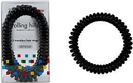Parfums et Produits cosmétiques Élastiques à cheveux, noir - Rolling Hills 5 Traceless Hair Rings Slimmer Black