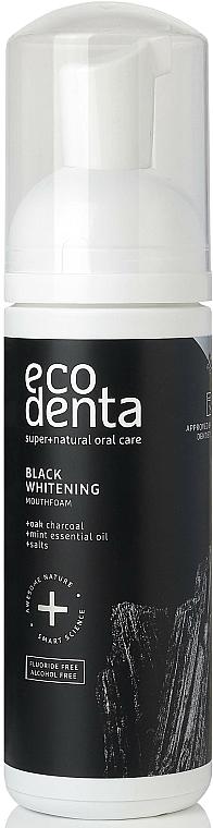Bain de bouche formule moussante à l'huile essentielle de menthe - Ecodenta Black Whitening Mouthfoam