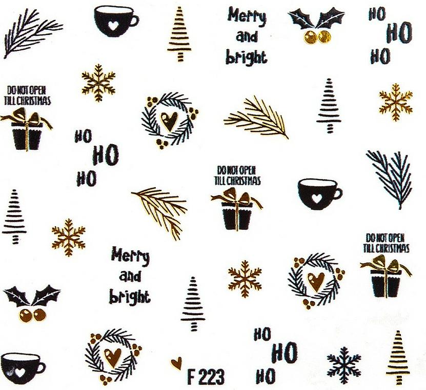 Autocollants décoratifs pour ongles, Noël, 1 pcs - Peggy Sage Christmas 2020