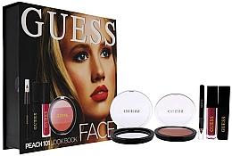 Parfums et Produits cosmétiques Coffret cadeau - Guess Beauty Face Lookbook Beauty 101 Peach (lipstick/4.1ml + eye/sh/7g + mascara/4ml + eyeliner/0.5g)