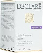 Parfums et Produits cosmétiques Sérum de nuit à l'acide hualyronique - Declare Age Control Night Repair Essential Serum