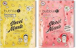 Parfums et Produits cosmétiques Masques tissu à l'extrait de thé pour visage - Tea-Infused Face Sheet Mask Duo Lemongrass & Green Tea and Hibiscus & Acai Berry Tea