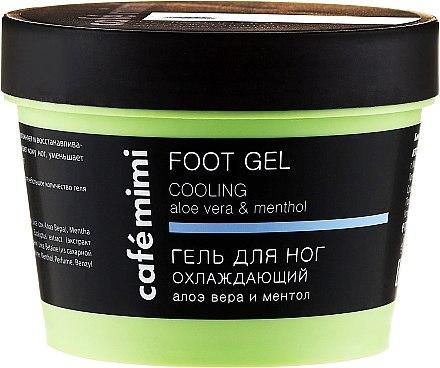 Gel rafraîchissant pour pieds - Cafe Mimi Foot Gel Cooling Aloe Vera & Menthol