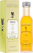 Parfums et Produits cosmétiques Huile à la figue de barbarie et orange pour cheveux - Alfaparf Precious Nature Oil For Long & Straight
