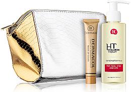 Parfums et Produits cosmétiques Set - Dermacol Dermacol 3D Hyaluron Therapy (huile nettoyante/150ml + fond de teint/30g + trousse de toilette)