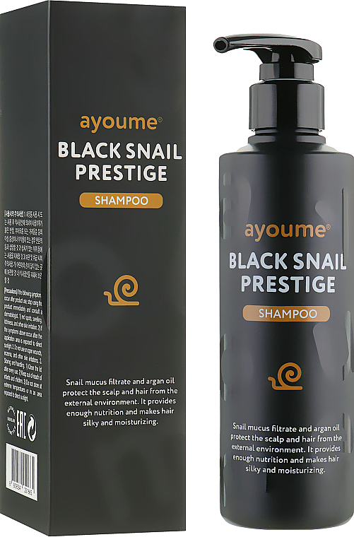 Shampooing à la bave d'escargot - Ayoume Black Snail Prestige Shampoo — Photo N1