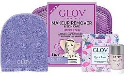 Parfums et Produits cosmétiques Set accessoires démaquillantes - Glov Expert Travel Set Oily and Mixed Skin (gant/mini/1pcs + gant/1pcs + stick/40g + trousse de toilette)