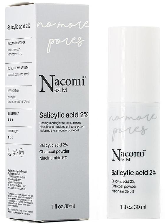 Sérum à l'acide salicylique 2% pour visage - Nacomi Next Level Salicylic Acid 2%