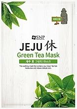 Parfums et Produits cosmétiques Masque tissu au thé vert pour visage - SNP Jeju Rest Green Tea Mask