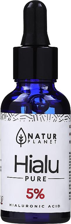 Sérum à l'acide hyaluronique 5% pour visage - Natur Planet Hialu-Pure Forte 5% Hyaluronic Acid — Photo N3