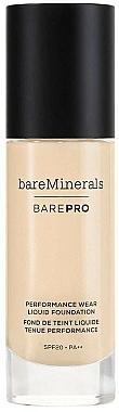 Bare Escentuals Bare Minerals Barepro 24-Hour Full Coverage Liquid Foundation Spf20 - Fond de teint liquide SPF20