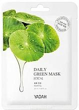Parfums et Produits cosmétiques Masque tissu à l'extrait de centella asiatica pour visage - Yadah Daily Green Mask Cica