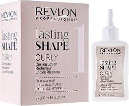 Parfums et Produits cosmétiques Kit de permanente pour cheveux naturels - Revlon Professional Lasting Shape Curly Lotion Natural Hair (réducteur/3x100ml)