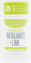 Parfums et Produits cosmétiques Déodorant stick à la bergamote et lime - Schmidt?s Naturals Deodorant Bergamot Lime Stick