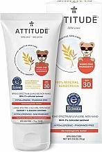 Parfums et Produits cosmétiques Crème solaire - Attitude Little Ones Sensitive Skin Sunscreen SPF 30