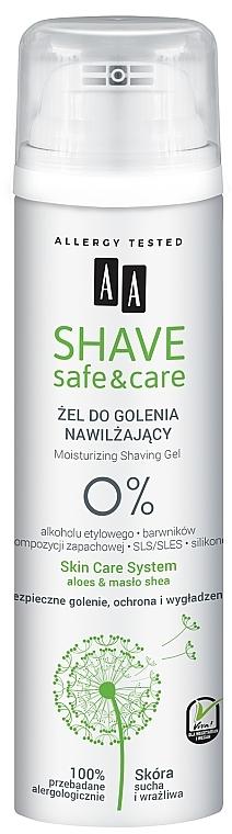 Gel de rasage hydratant - AA Shave Safe&Care