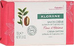 Parfums et Produits cosmétiques Savon crème au beurre de cupuaçu bio Fleur d'Hibiscus - Klorane Cupuacu Hibiscus Flower Cream Soap