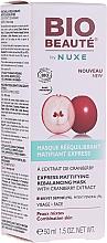 Parfums et Produits cosmétiques Masque matifiant à l'extrait de canneberge pour visage - Nuxe Bio Beaute Express Mattifying Rebalancing Mask
