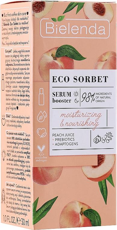 Sérum à l'extrait de basilic pour visage - Bielenda Eco Sorbet Moisturizing & Nourishing Serum Booster