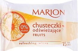 Parfums et Produits cosmétiques Lingettes humides rafraîchissantes à l'arôme de fruits, 15 pcs - Marion
