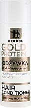 Parfums et Produits cosmétiques Après-shampooing aux protéines de lait pour cheveux colorés et abîmés par la stylisation - Hegron Gold Protein Hair Conditioner