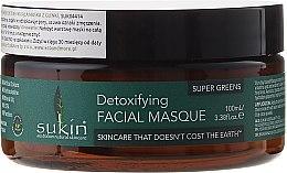 Parfums et Produits cosmétiques Masque au chou frisé, baie de goji et bentonite pour visage - Sukin Super Greens Detoxifying Clay Masque