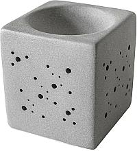 Parfums et Produits cosmétiques Brûleur à tartelettes de cire, gris - Flagolie By Paese Cube Fireplace Grey
