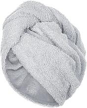 Parfums et Produits cosmétiques Serviette pour cheveux, gris, 68x26cm - MakeUp