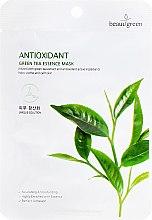 Parfums et Produits cosmétiques Masque tissu à l'extrait de thé vert pour visage - Beauugreen Antioxidant Green Tea Essence Mask