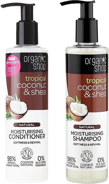 Organic Shop - Set (shampooing/280ml + après-shampooing/280ml)
