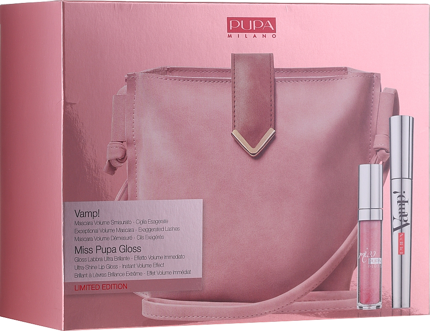 Set (mascara/9ml + brillant à lèvres/5ml + sac à main) - Pupa Limited Edition