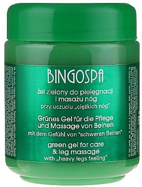 Gel vert pour jambes lourdes, varices, vaisseaux fragiles - BingoSpa Green Gel