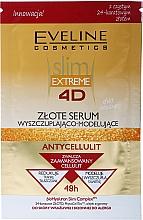 Parfums et Produits cosmétiques Sérum anti-cellulite à l'or pour corps - Eveline Cosmetics Slim Extreme 4D Gold Serum Slimming And Shaping (sachet)
