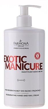 Crème à la vitamine E pour mains et ongles - Farmona Exotic Manicure SPA