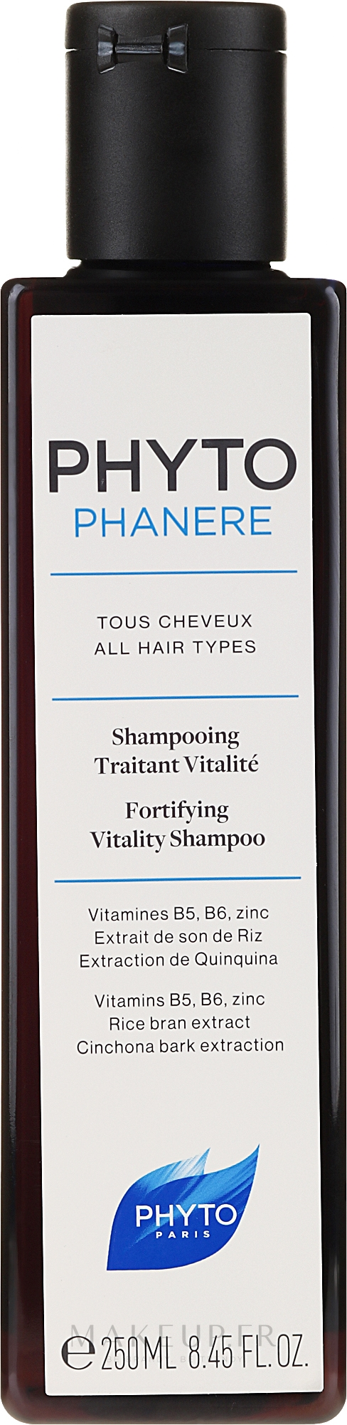 Shampooing aux vitamines B5 et B6 - Phyto Phytophanere Fortifying Vitality Shampoo — Photo 250 ml