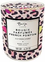 Parfums et Produits cosmétiques Bougie parfumée à la cire végétale, Rose et Litchi - Baija French Pompon Scented Candle