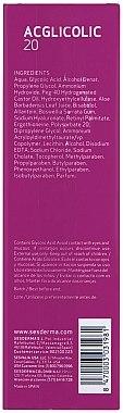 Gel-crème à l'acide glycolique 15% pour visage - SesDerma Laboratories Acglicolic 20 Moisturizing Cream Gel — Photo N2