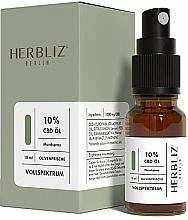 Parfums et Produits cosmétiques Spray buccal à l'huile de CBD 10%, Olive - Herbliz CBD Olive Fresh Oil Mouth Spray 10%