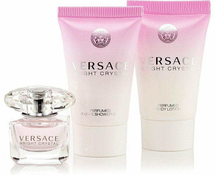 Versace Bright Crystal - Coffret (eau de toilette/50ml + lotion corporelle/50ml + gel douche/50ml)