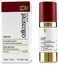 Parfums et Produits cosmétiques Crème de nuit aux cellules intégrales stabilisées - Cellcosmet Sensitive Night Cream