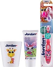 Parfums et Produits cosmétiques Jordan Kids - Set, Lapin (dentifrice/50ml + brosse à dents/1pcs + tasse)