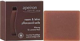Parfums et Produits cosmétiques Savon naturel à l'huile de neem et argile - Apeiron Neem & Clay Plant Oil Soap