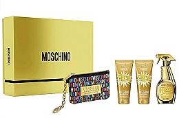 Parfums et Produits cosmétiques Moschino Gold Fresh Couture - Coffret (eau de parfum/100ml + lotion corporelle/100ml + gel douche/100 ml + trousse de toilette)