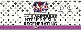 Parfums et Produits cosmétiques Ampoules à la soie pour cheveux - Ronney Professional Hair Ampoules Intensive Silk Regenerating