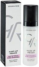 Parfums et Produits cosmétiques Base de maquillage matifiante et minimisant les pores - Golden Rose Make-Up Primer Mattifying & Pore Minimising