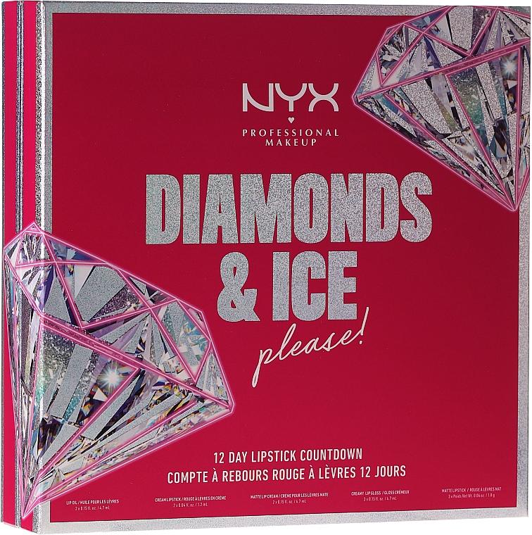 Set - NYX Professional Makeup Diamonds & Ise 12 Day Lipstick Countdown — Photo N1